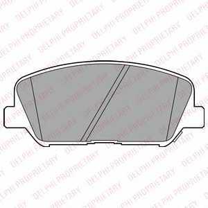 Колодки тормозные дисковые DELPHI LP2477 - изображение
