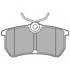 Колодки тормозные дисковые DELPHI LP2480 - изображение