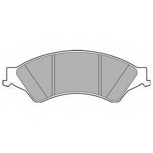 Колодки тормозные дисковые DELPHI LP2484 - изображение