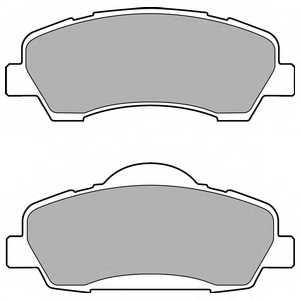 Колодки тормозные дисковые для CITROEN C-ELYSEE / PEUGEOT 301, 308 <b>DELPHI LP2485</b> - изображение