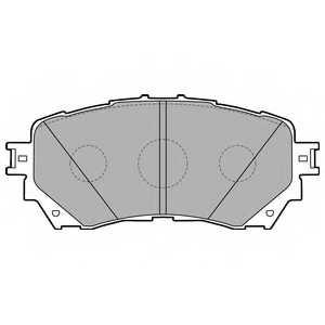 Колодки тормозные дисковые DELPHI LP2487 - изображение