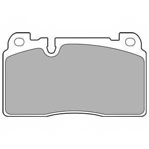 Колодки тормозные дисковые DELPHI LP2491 - изображение
