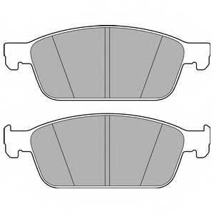 Колодки тормозные дисковые DELPHI LP2495 - изображение