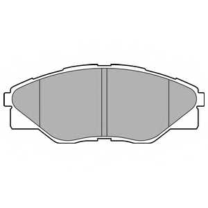 Колодки тормозные дисковые для TOYOTA HILUX(GGN#,KUN#,LAN#,TGN#) <b>DELPHI LP2496</b> - изображение