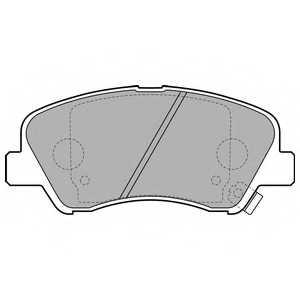 Колодки тормозные дисковые DELPHI LP2497 - изображение