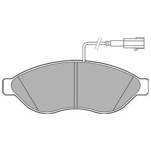 Колодки тормозные дисковые для CITROEN JUMPER / FIAT DUCATO(250,290) / PEUGEOT BOXER <b>DELPHI LP2498</b> - изображение