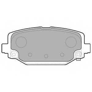 Колодки тормозные дисковые для CHRYSLER GRAND VOYAGER(RT) <b>DELPHI LP2499</b> - изображение