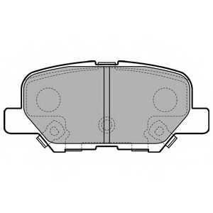 Колодки тормозные дисковые для MAZDA 6(GH,GJ) / MITSUBISHI OUTLANDER(GF#W,GG#W,ZJ) <b>DELPHI LP2501</b> - изображение