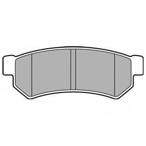 Колодки тормозные дисковые DELPHI LP2502 - изображение