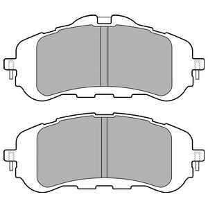 Колодки тормозные дисковые DELPHI LP2506 - изображение