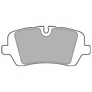 Колодки тормозные дисковые для LAND ROVER RANGE ROVER(LG,LW) <b>DELPHI LP2508</b> - изображение