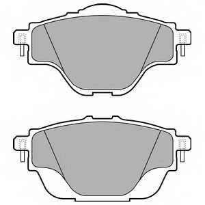 Колодки тормозные дисковые DELPHI LP2509 - изображение