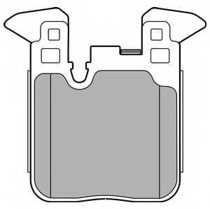 Колодки тормозные дисковые для BMW 3(F30,F35,F80), 4(F32,F82) <b>DELPHI LP2660</b> - изображение