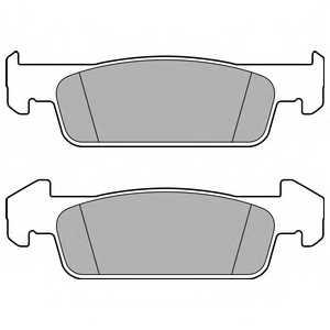 Колодки тормозные дисковые DELPHI LP2663 - изображение