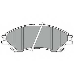 Колодки тормозные дисковые DELPHI LP2664 - изображение