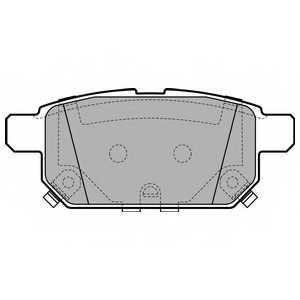 Колодки тормозные дисковые для SUZUKI SWIFT(FZ,NZ), SX4 S-Cross <b>DELPHI LP2687</b> - изображение