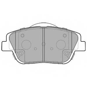 Колодки тормозные дисковые для HYUNDAI SONATA(NF) / KIA OPTIMA <b>DELPHI LP2688</b> - изображение