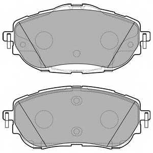 Колодки тормозные дисковые для TOYOTA AURIS(NZE18#,ZRE18#,ZWE18#) <b>DELPHI LP2691</b> - изображение