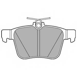 Колодки тормозные дисковые DELPHI LP2697 - изображение