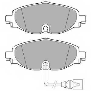 Колодки тормозные дисковые для AUDI A3(8V1), TT(FV3,FV9) / VW GOLF(5G1,BE1) <b>DELPHI LP2698</b> - изображение
