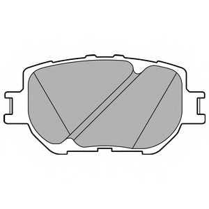 Колодки тормозные дисковые для LEXUS IS(AVE3#,GSE3#) <b>DELPHI LP2699</b> - изображение