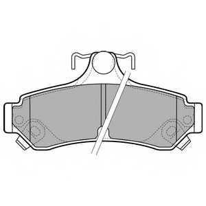 Колодки тормозные дисковые <b>DELPHI LP2700</b> - изображение