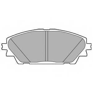 Колодки тормозные дисковые DELPHI LP2701 - изображение