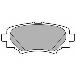 Колодки тормозные дисковые для MAZDA 3(BM) <b>DELPHI LP2702</b> - изображение