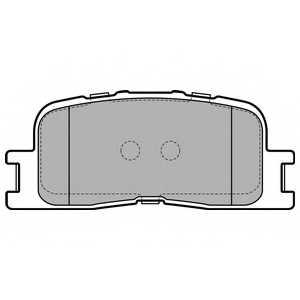 Колодки тормозные дисковые для TOYOTA CAMRY(#XV3#,ACV3#,MCV3#) <b>DELPHI LP2703</b> - изображение
