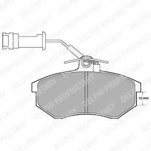 Колодки тормозные дисковые DELPHI LP444 - изображение
