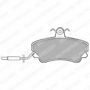 Колодки тормозные дисковые DELPHI LP822 - изображение