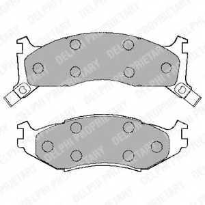 Колодки тормозные дисковые DELPHI LP892 - изображение