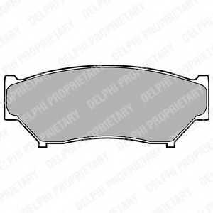 Колодки тормозные дисковые DELPHI LP967 - изображение