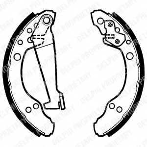Комплект тормозных колодок для AUDI 100, 80, 90, COUPE / VW PASSAT, SANTANA <b>DELPHI LS1277</b> - изображение