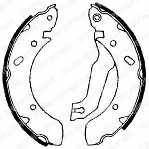 Комплект тормозных колодок для HYUNDAI COUPE(RD), ELANTRA(XD), LANTRA(J-1,J-2) <b>DELPHI LS1610</b> - изображение