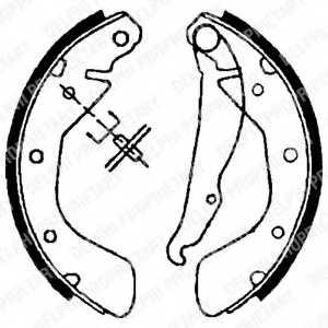 Комплект тормозных колодок для OPEL ASTRA, CORSA, TIGRA, VECTRA <b>DELPHI LS1621</b> - изображение