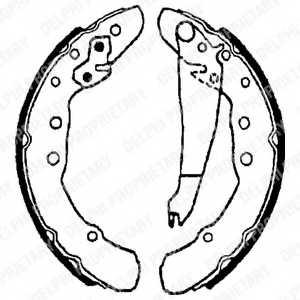 Комплект тормозных колодок DELPHI LS1655 - изображение