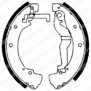 Комплект тормозных колодок для VW TRANSPORTER(70XA, 70XB, 70XC, 70XD, 7DB, 7DK, 7DW) <b>DELPHI LS1656</b> - изображение