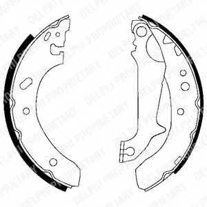 Комплект тормозных колодок для FORD ESCORT(AAL,ABL,AFL,ANL,GAL), MONDEO(BAP,BFP,BNP,GBP) <b>DELPHI LS1683</b> - изображение