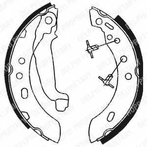 Комплект тормозных колодок для NISSAN MICRA(K11) <b>DELPHI LS1689</b> - изображение