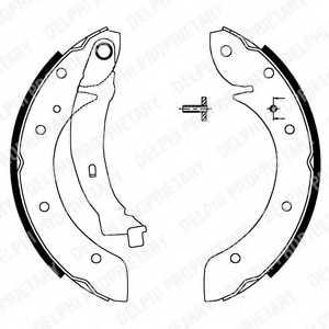 Комплект тормозных колодок для CITROEN BERLINGO(M#,MF), XSARA(N68) / PEUGEOT PARTNER(5,5F) <b>DELPHI LS1716</b> - изображение