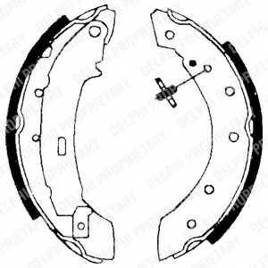 Комплект тормозных колодок для CITROEN SAXO, XSARA, ZX / PEUGEOT 106, 206, 306 / RENAULT CLIO, LAGUNA, LOGAN, SANDERO/STEPWAY, THALIA, TWINGO <b>DELPHI LS1717</b> - изображение