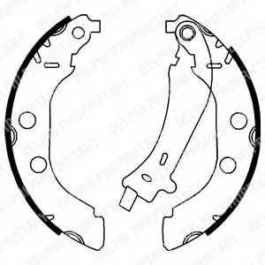 Комплект тормозных колодок для PEUGEOT 406(8B,8E/F) <b>DELPHI LS1723</b> - изображение