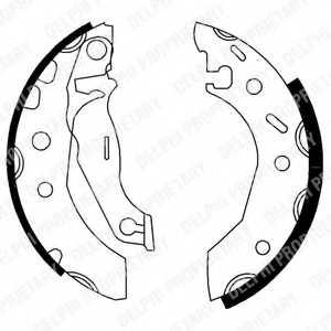 Комплект тормозных колодок DELPHI LS1728 - изображение