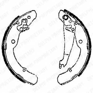 Комплект тормозных колодок для SKODA OCTAVIA(1U2,1U5), ROOMSTER(5J) / VW CADDY(9K9A,9K9B) <b>DELPHI LS1784</b> - изображение