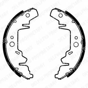 Комплект тормозных колодок для CHRYSLER VOYAGER(ES,GS,RG,RS) / KIA CARNIVAL(UP) <b>DELPHI LS1814</b> - изображение