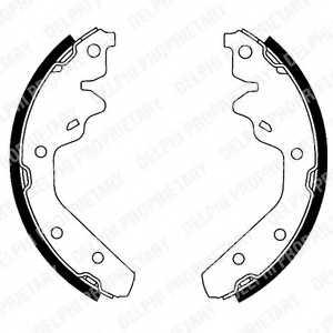 Комплект тормозных колодок DELPHI LS1820 - изображение