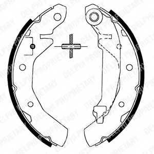 Комплект тормозных колодок для CHEVROLET MATIZ(M200,M250) / DAEWOO MATIZ(KLYA) <b>DELPHI LS1821</b> - изображение
