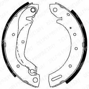 Комплект тормозных колодок для FORD MAVERICK(UDS,UNS) / NISSAN SERENA(C23M), TERRANO(R20) <b>DELPHI LS1827</b> - изображение
