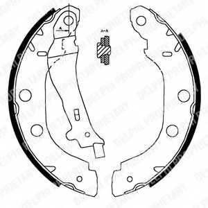 Комплект тормозных колодок для NISSAN KUBISTAR(X76,X80), PRIMERA(P10,P11) / RENAULT KANGOO Express(FC0/1#), KANGOO(KC0/1#) <b>DELPHI LS1828</b> - изображение